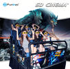 Multiplayer CS Fights Shooting Games 7D Cinema Simulator Rider Metal Screen 6 / 9 Seats