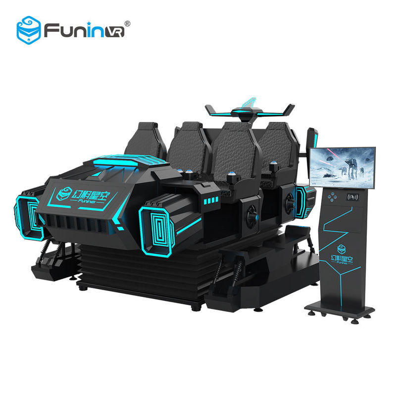FuninVR-Hot selling Arcade  6 seats VR dark mar  3.8KW Virtual Reality Experience For Amusement Park